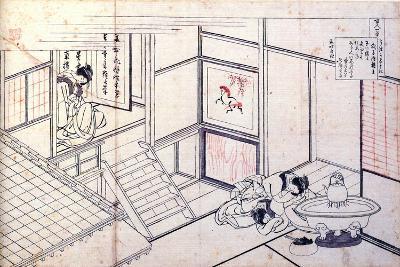 From the Series Hundred Poems by One Hundred Poets: Shikishi Naishinno, C1830-Katsushika Hokusai-Giclee Print