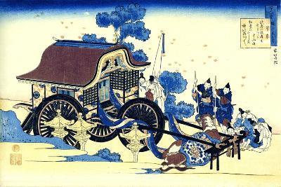 From the Series Hundred Poems by One Hundred Poets: Sugawara No Michizane, C1830-Katsushika Hokusai-Giclee Print