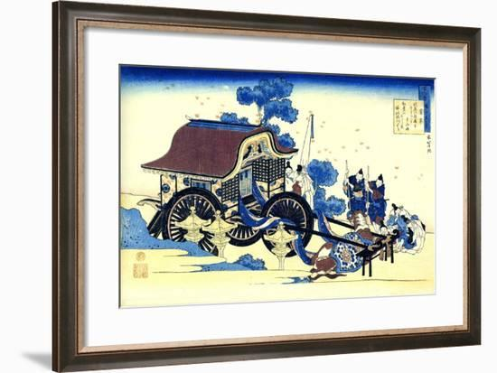 From the Series Hundred Poems by One Hundred Poets: Sugawara No Michizane, C1830-Katsushika Hokusai-Framed Giclee Print