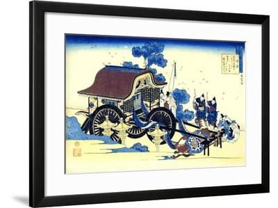 From the Series Hundred Poems by One Hundred Poets: Sugawara No Michizane, C1830-Katsushika Hokusai-Framed Giclee Print