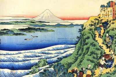 From the Series Hundred Poems by One Hundred Poets: Yamabe No Akahito, C1830-Katsushika Hokusai-Giclee Print