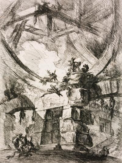 From the Series the Imaginary Prisons (Le Carceri D'Invenzion)-Giovanni Battista Piranesi-Giclee Print