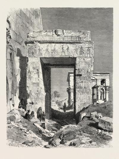 From the Temple of Isis at Philae. Egypt, 1879--Giclee Print