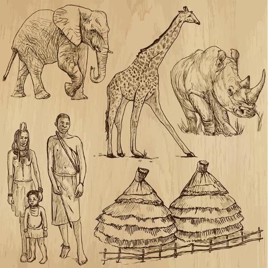 From the Traveling Series: South Africa - Collection of an Hand Drawn Illustrations-KUCO-Art Print