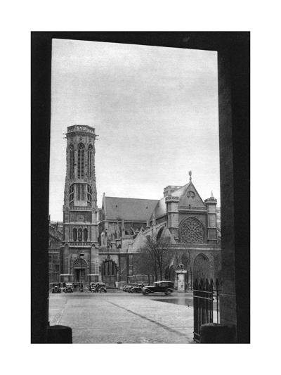 Front and Porch of St Germain L'Auxerrois, Paris, 1931-Ernest Flammarion-Giclee Print