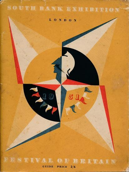 Front cover of a guide to the Festival of Britain, 1951-Unknown-Giclee Print