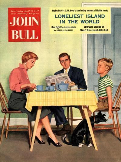 Front Cover of 'John Bull', April 1957--Giclee Print