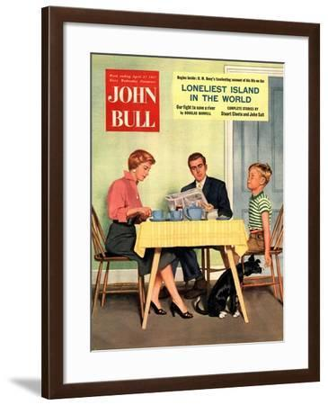 Front Cover of 'John Bull', April 1957--Framed Giclee Print