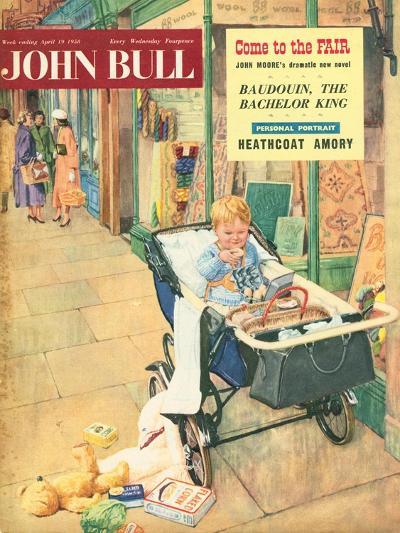 Front Cover of 'John Bull', April 1958--Giclee Print