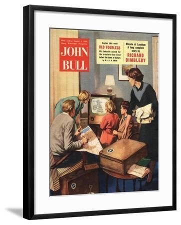 Front Cover of 'John Bull', August 1956--Framed Giclee Print