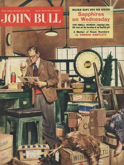 Front Cover of 'John Bull', December 1956--Giclee Print
