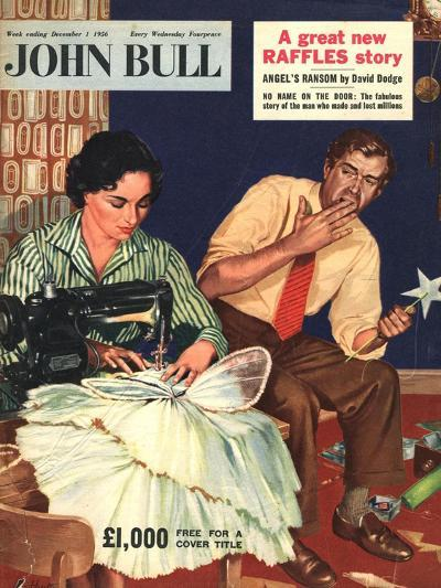 Front Cover of 'John Bull', December 1956--Giclee Print