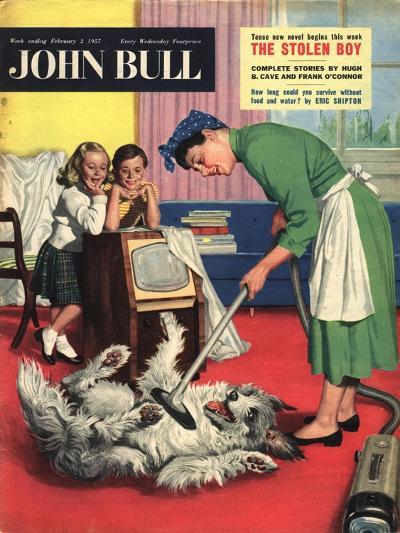 Front Cover of 'John Bull', February 1957--Giclee Print