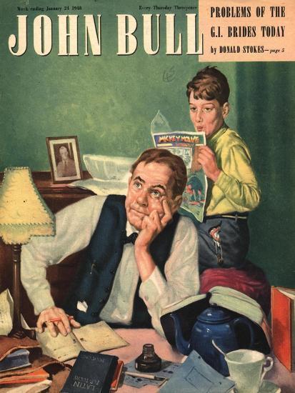 Front Cover of 'John Bull', January 1948--Giclee Print