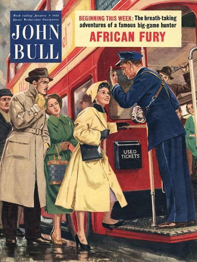 Front Cover of 'John Bull', January 1954--Giclee Print