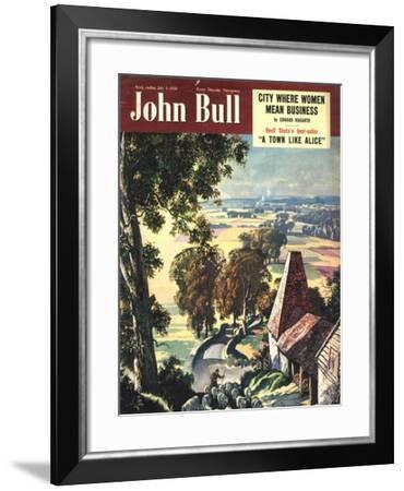 Front Cover of 'John Bull', July 1950--Framed Giclee Print