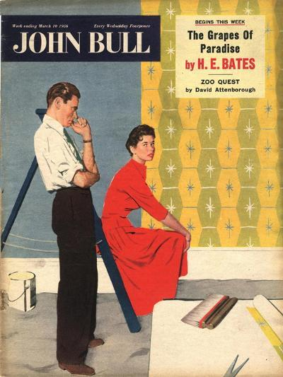 Front Cover of 'John Bull', March 1956--Giclee Print
