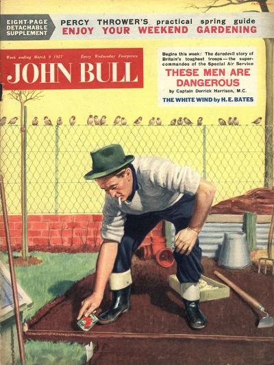 Front Cover of 'John Bull', March 1957--Giclee Print
