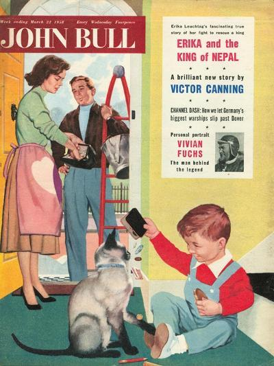 Front Cover of 'John Bull', March 1958--Giclee Print