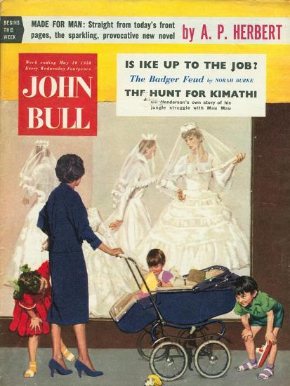 Front Cover of 'John Bull', May 1958--Giclee Print