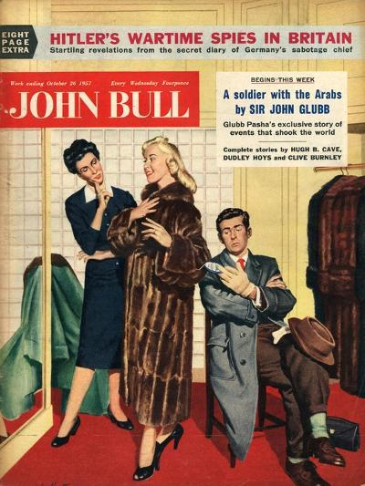 Front Cover of 'John Bull', October 1957--Giclee Print