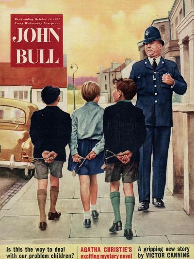 Front Cover of 'John Bull', October 1957--Giclee Print