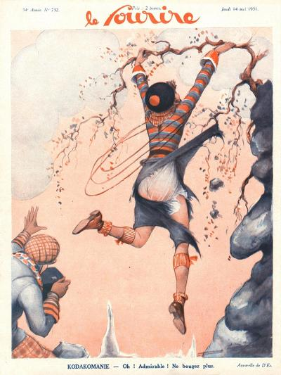 Front Cover of 'Le Sourire', May 1931-French School-Giclee Print