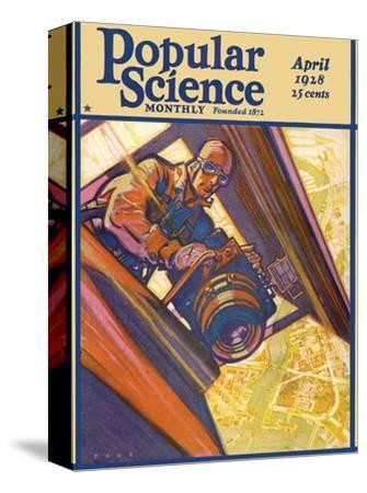 Front Cover of Popular Science Magazine: April 1, 1928