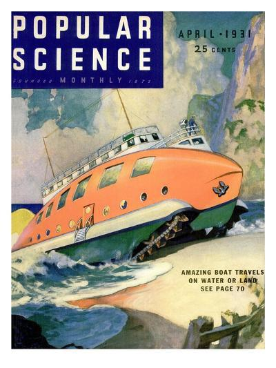 Front Cover of Popular Science Magazine: April 1, 1930--Art Print