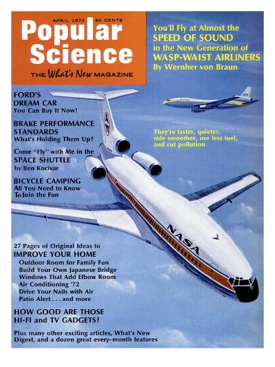 Front Cover of Popular Science Magazine: April 1, 1972--Art Print