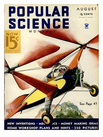 Front Cover of Popular Science Magazine: August 1, 1930--Art Print