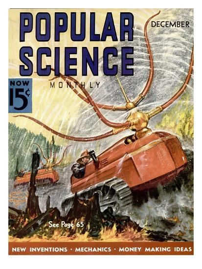 Front Cover of Popular Science Magazine: December 1, 1930--Art Print