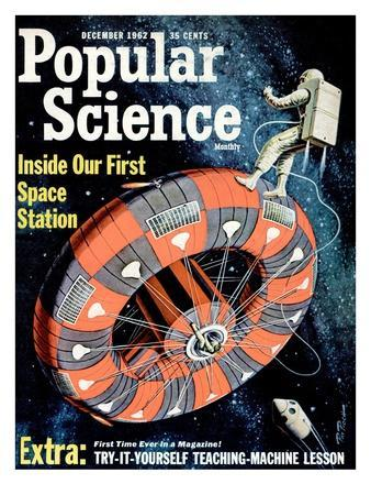 Front cover of Popular Science Magazine: December 1, 1962--Art Print
