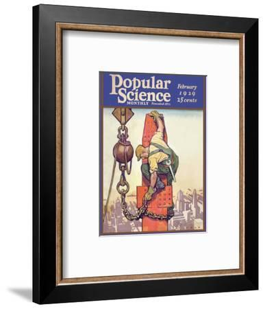 Front Cover of Popular Science Magazine: February 1, 1929--Framed Art Print