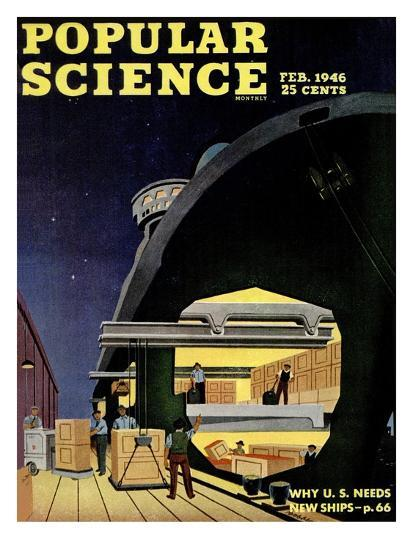 Front cover of Popular Science Magazine: February 1, 1946--Art Print
