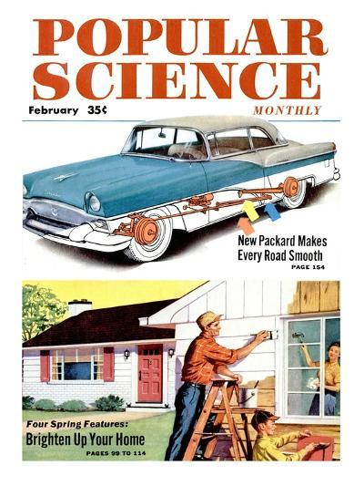 Front cover of Popular Science Magazine: February 1, 1950--Art Print