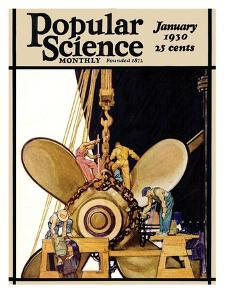 Front Cover of Popular Science Magazine: January 1, 1930