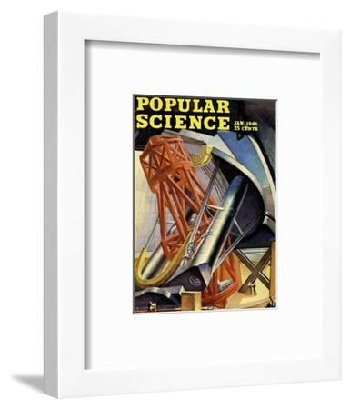 Front cover of Popular Science Magazine: January 1, 1946--Framed Art Print
