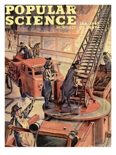 Front cover of Popular Science Magazine: January 1, 1947--Art Print