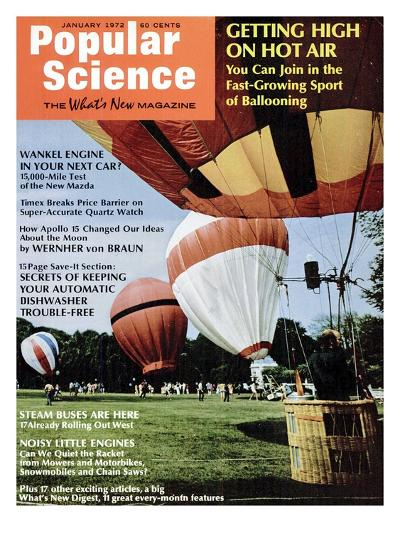 Front Cover of Popular Science Magazine: January 1, 1972--Art Print