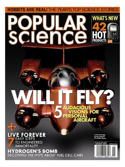 Front cover of Popular Science Magazine: January 1, 2005--Art Print