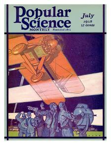 Front Cover of Popular Science Magazine: July 1, 1928