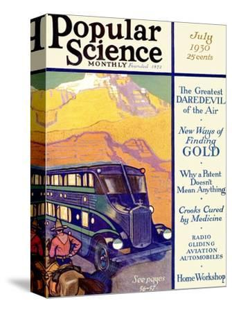 Front Cover of Popular Science Magazine: July 1, 1930