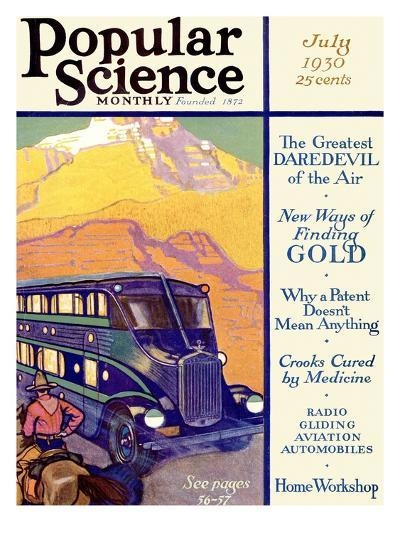 Front Cover of Popular Science Magazine: July 1, 1930--Art Print