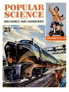 Front cover of Popular Science Magazine: July 1, 1951
