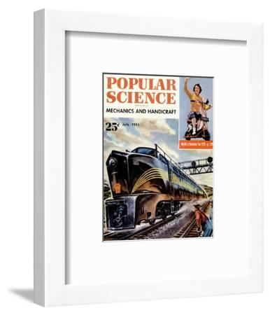 Front cover of Popular Science Magazine: July 1, 1951--Framed Art Print