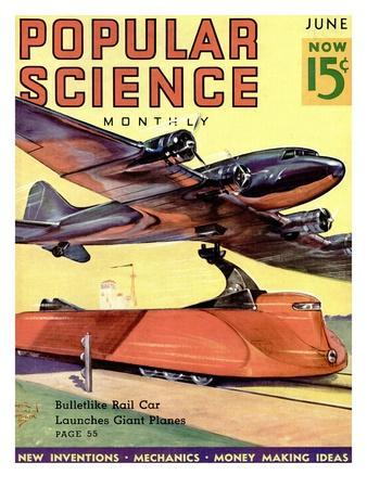 Front Cover of Popular Science Magazine: June 1, 1930--Art Print
