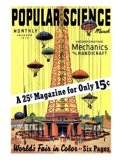 Front Cover of Popular Science Magazine: March 1, 1930--Art Print