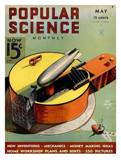 Front cover of Popular Science Magazine: May 1, 1930--Art Print