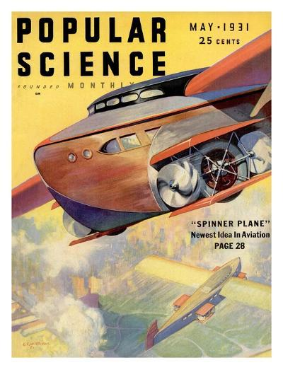 Front Cover of Popular Science Magazine: May 1, 1931--Art Print